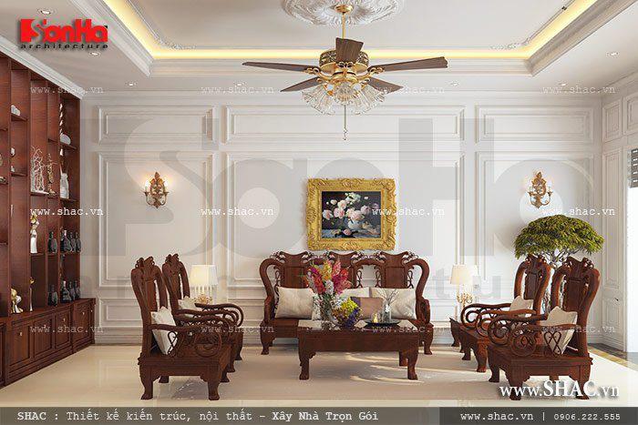 Cách tạo điểm nhấn trong phòng khách nhà ống cổ điển Pháp được yêu thích