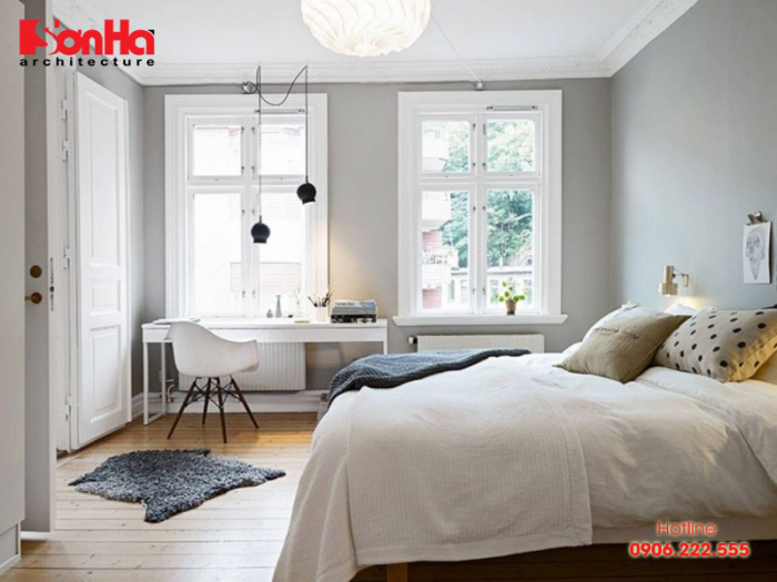 Đây cũng là cách thiết kế nội thất phòng ngủ nhỏ gọn được yêu thích