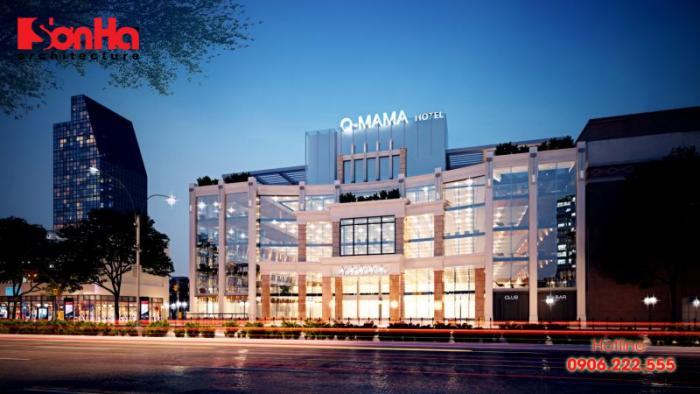 Kiến trúc sang trọng và hiện đại của công trình khách sạn 5 sao Q MaMa