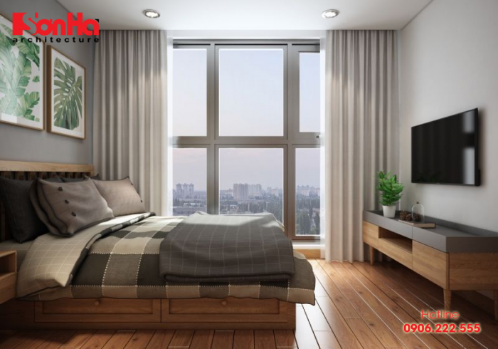 Mẫu phòng ngủ đẹp diện tích nhỏ với cách thiết kế vật dụng khoa học