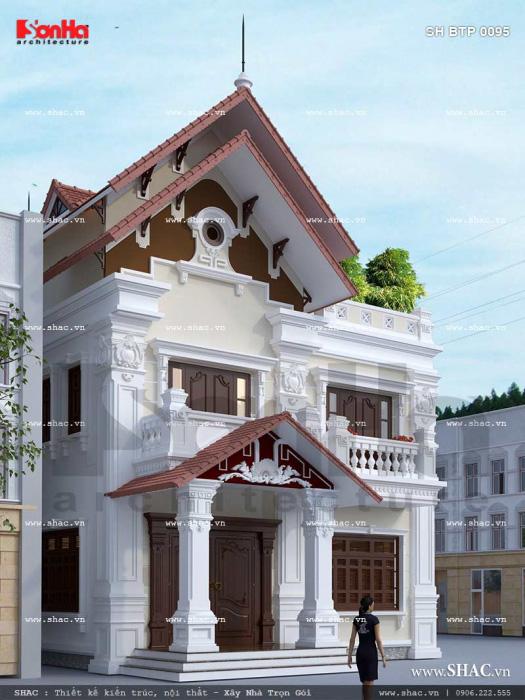 Mẫu thiết kế của ngôi biệt thự Pháp 2 tầng