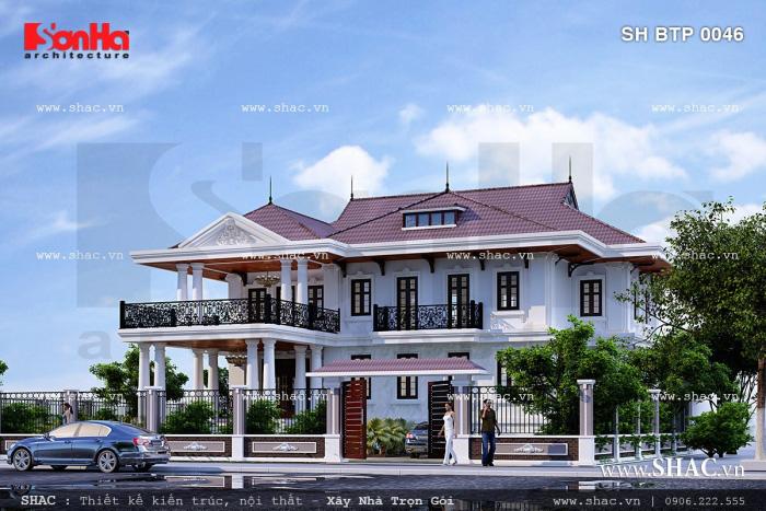 Ngôi biệt thự màu trắng đẹp