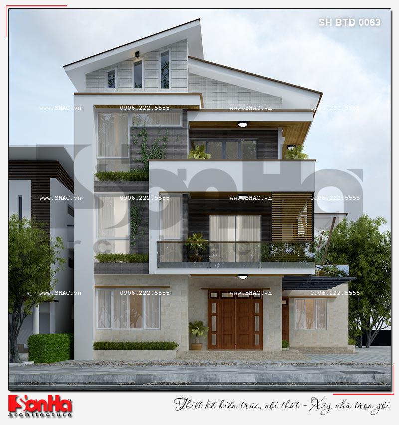 Phương án thiết kế mẫu biệt thự 3 tầng hiện đại giản dị nhưng có chiều sâu