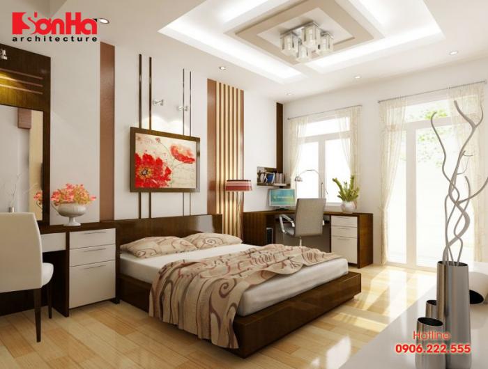Thêm một cách sắp xếp phòng ngủ diện tích nhỏ mà tiện nghi và phong thủy