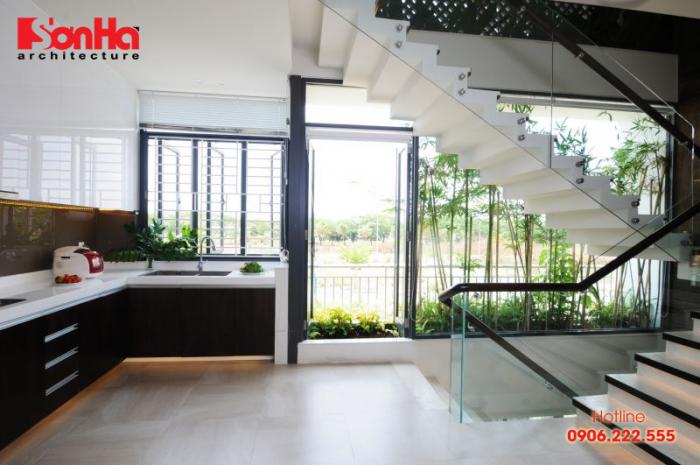 Thêm một phương án thiết kế cầu thang kết hợp kinh với sàn gỗ