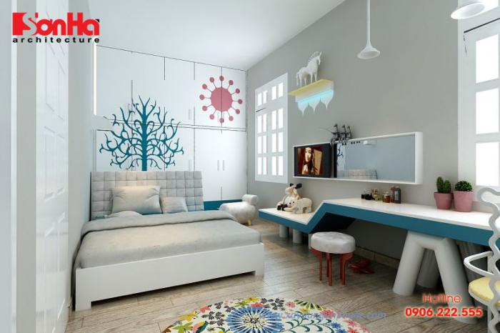 Thiết kế nội thất phòng ngủ hiện đại diện tích nhỏ tiện nghi