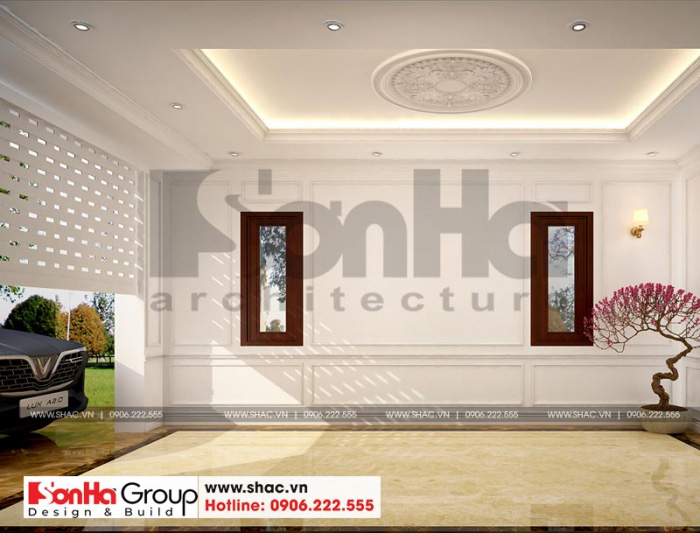 Phương án thiết kế nội thất gara ô tô cho biệt thự đẹp phong cách tân cổ điển