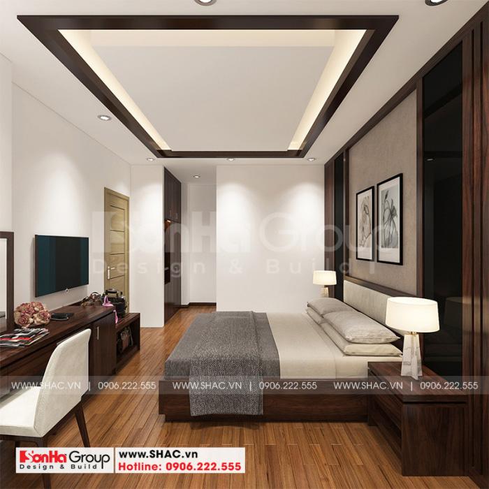 Màu sắc của không gian nội thất phòng ngủ giản dị nhưng rất ấn tượng