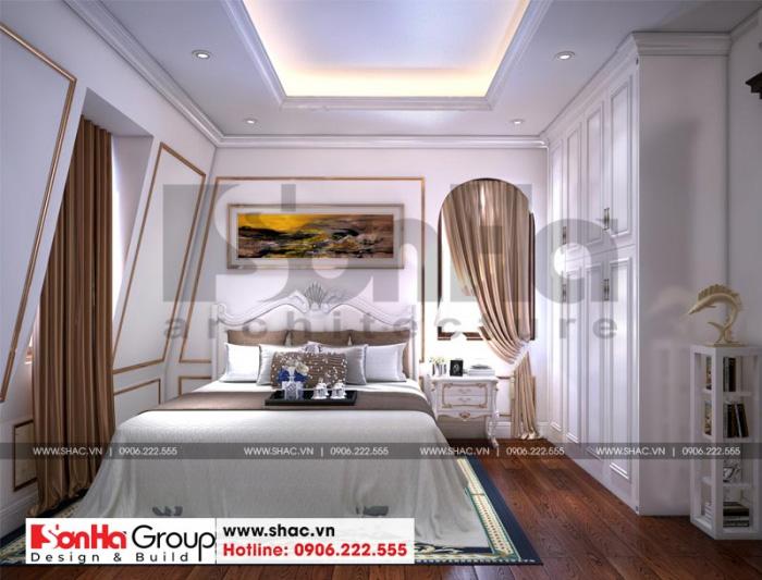 Đây cũng là mẫu thiết kế nội thất phòng ngủ tân cổ điển rất được CĐT yêu thích