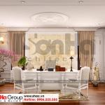 11 Thiết kế nội thất phòng làm việc biệt thự tân cổ điển mặt tiền 11.9m tại sài gòn sh btp 0130