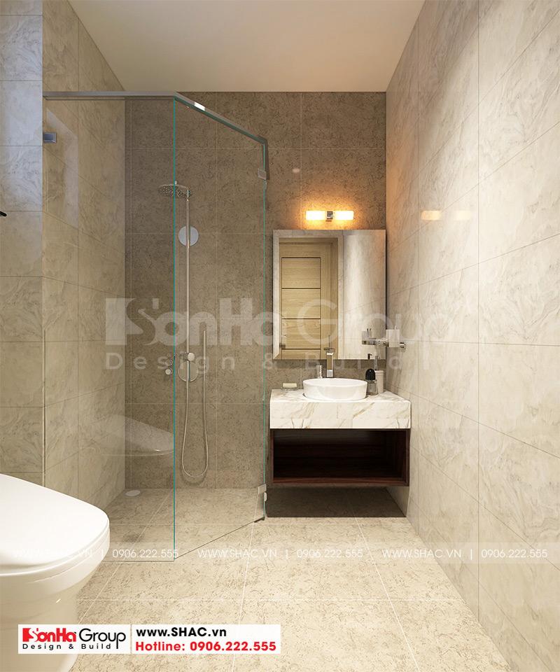 Thiết kế phòng tắm và vệ sinh cho khách sạn tiêu chuẩn 2 sao tân cổ điển