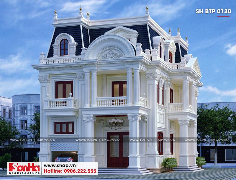 Biệt thự tân cổ điển 3 tầng 2 mặt tiền diện tích 11,9x15,5m tại Sài Gòn - SH BTP 0130 2