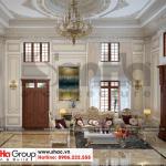 2 Mẫu nội thất phòng khách biệt thự 3 tầng kiểu tầng cổ điển tại sài gòn sh btp 0130