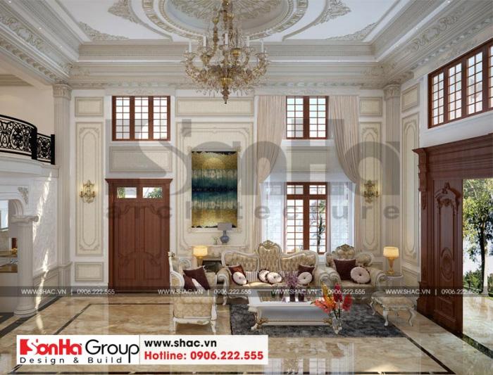 Không gian phòng cách tân cổ điển sang trọng bắt mắt với đồ nội thất cao cấp
