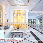 2 Mẫu nội thất quầy lễ tân khách sạn đẹp tại phú thọ sh ks 0065