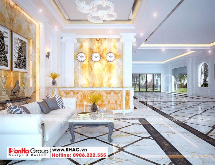 Phương án thiết kế quầy lễ tân khách sạn 2 sao với vật liệu cao cấp