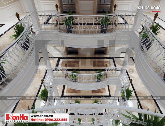 2 Mẫu nội thất sảnh thang khách sạn 3 sao tại vĩnh phúc sh ks 0040