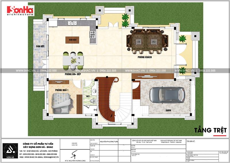 Biệt thự tân cổ điển 3 tầng 2 mặt tiền diện tích 11,9x15,5m tại Sài Gòn - SH BTP 0130 3