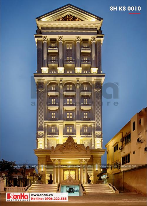 3 Thiết kế khách sạn kiến trúc pháp 4 sao tại quảng bình sh ks 0010