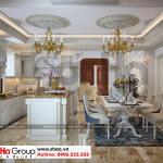 3 Thiết kế nội thất phòng bếp ăn biệt thự tân cổ điển 2 mặt tiền tại sài gòn sh btp 0130
