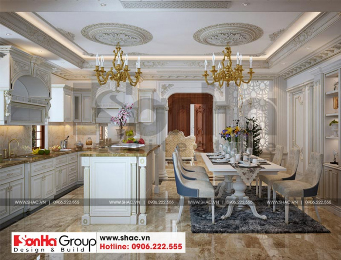 Thiết kế nhà đẹp tiện nghi và sang trọng với cách thiết kế tân cổ điển hài hòa