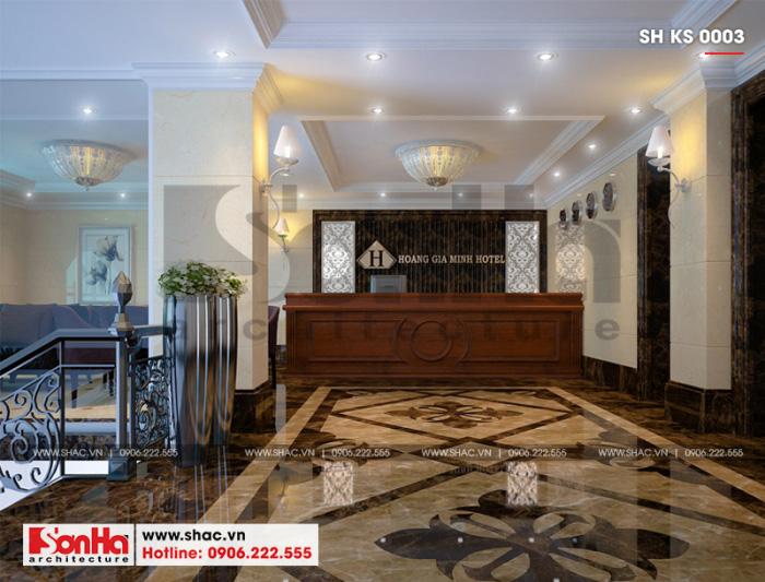 3 Thiết kế nội thất sảnh lễ tân khách sạn 3 sao tại hải phòng sh ks 0003