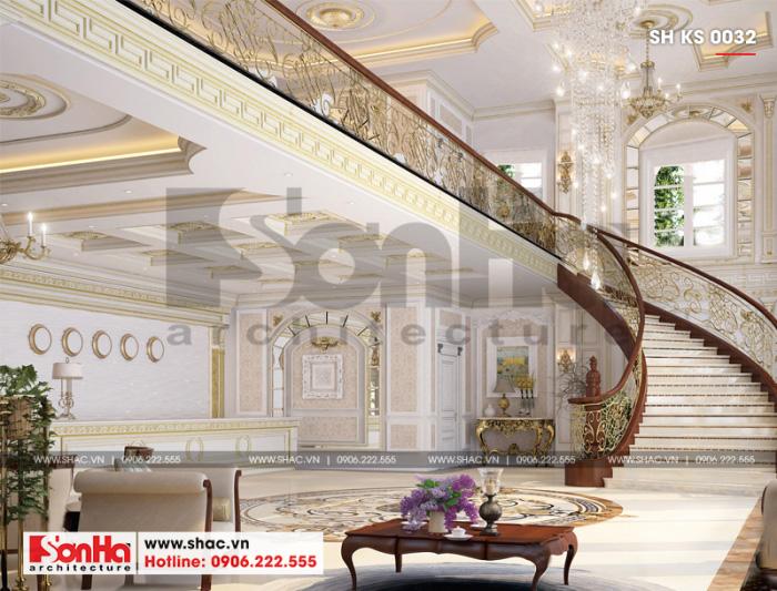 3 Thiết kế nội thất sảnh lễ tân khách sạn 4 sao tại đà nẵng sh ks 0032