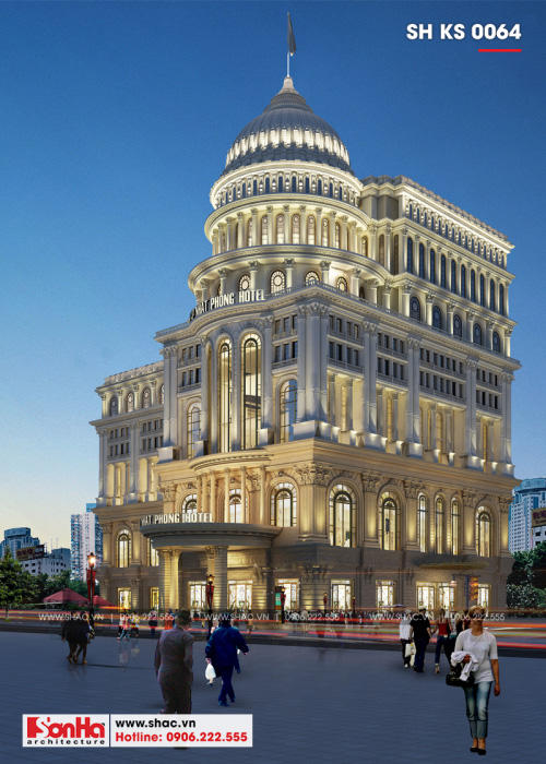 3 Thiết kế trung tâm phức hợp thương mại khách sạn 5 sao đẳng cấp tại đồng nai sh ks 0064