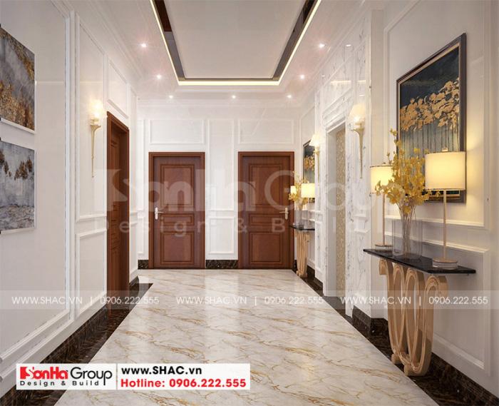 Cách trang trí hành lang khách sạn 2 sao mini tân cổ điển đẹp mắt