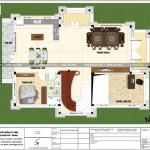4 Mặt bằng công năng tầng lửng biệt thự tân cổ điển 3 tầng tại sài gòn sh btp 0130