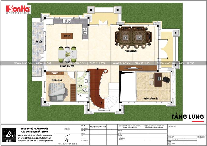 Biệt thự tân cổ điển 3 tầng 2 mặt tiền diện tích 11,9x15,5m tại Sài Gòn - SH BTP 0130 4