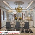 4 Mẫu nội thất phòng bếp ăn biệt thự tân cổ điển có gara oto tại sài gòn sh btp 0130