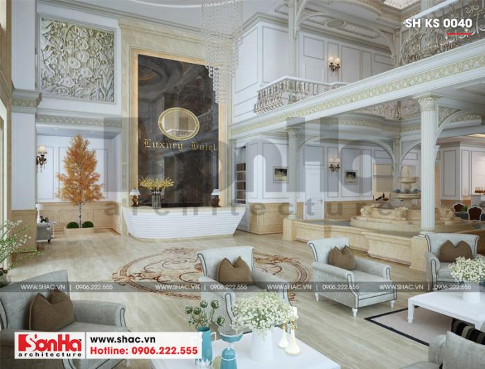 4 Mẫu nội thất sảnh chờ khách sạn 3 sao tại vĩnh phúc sh ks 0040