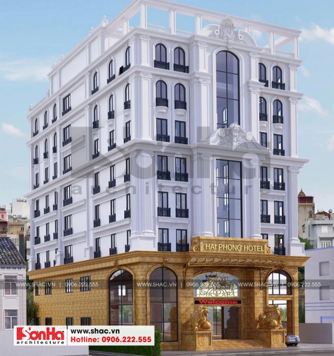 4 Mẫu thiết kế khách sạn 3 sao tại hải phòng