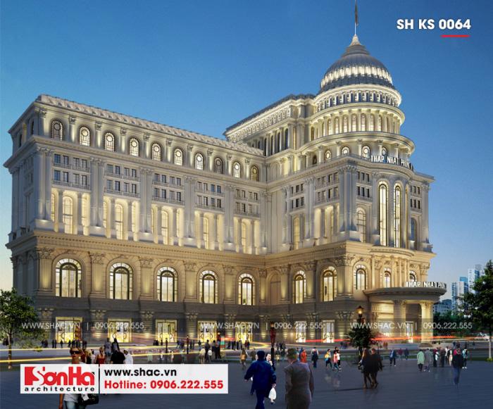 4 Mẫu thiết kế trung tâm phức hợp thương mại khách sạn 5 sao đẹp tại đồng nai sh ks 0064