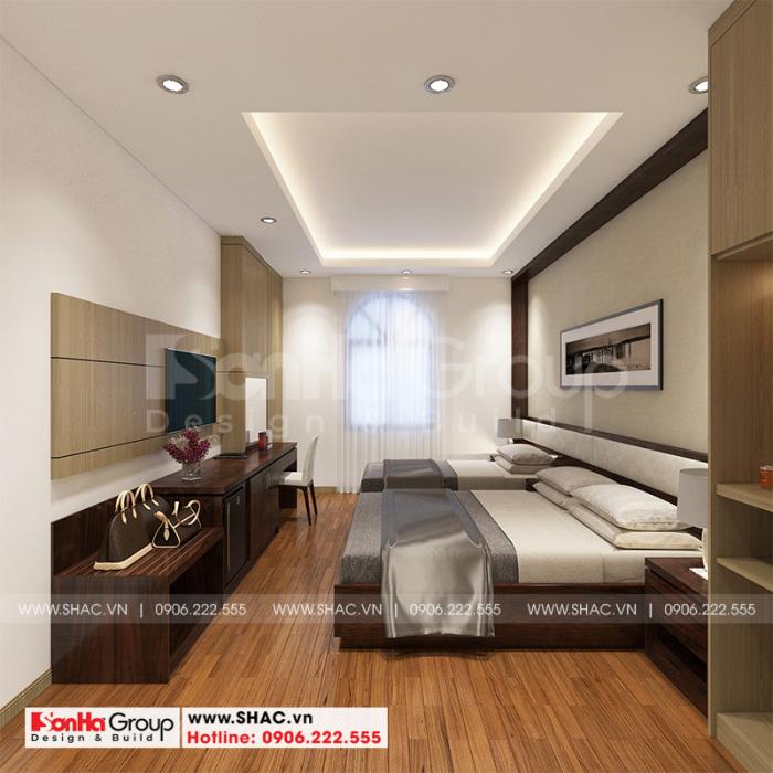 Mẫu phòng ngủ đẹp cho khách sạn 2 sao tân cổ điển tại Phú Thọ