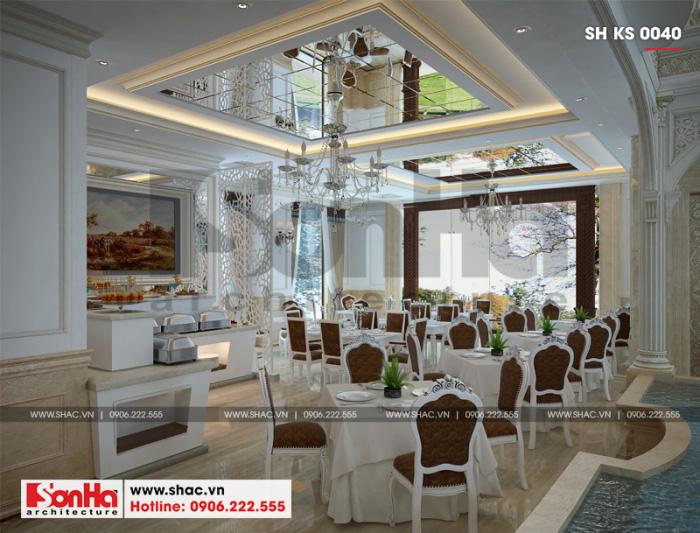 5 Thiết kế nội thất phòng ăn khách sạn 3 sao tại vĩnh phúc sh ks 0040