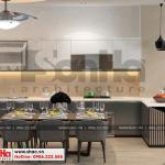 5 Thiết kế nội thất phòng bếp tầng 2 nhà phố liền kề khu đô thị waterfront hải phòng sh wfc 0003