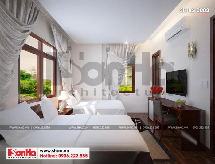 5 Thiết kế nội thất phòng ngủ đôi khách sạn 3 sao tại hải phòng sh ks 0003