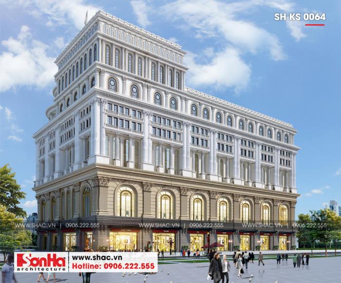 5 Thiết kế trung tâm phức hợp thương mại khách sạn 5 sao đẳng cấp tại đồng nai sh ks 0064
