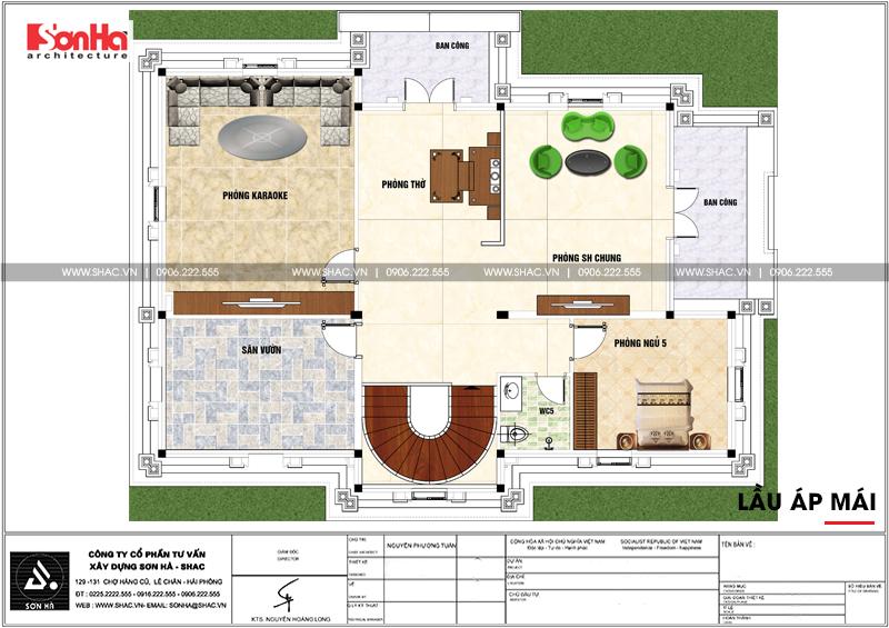 Biệt thự tân cổ điển 3 tầng 2 mặt tiền diện tích 11,9x15,5m tại Sài Gòn - SH BTP 0130 6