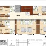 6 Mặt bằng công năng tầng 2 3 4 khách sạn mini mặt tiền 11m tại phú thọ sh ks 0065