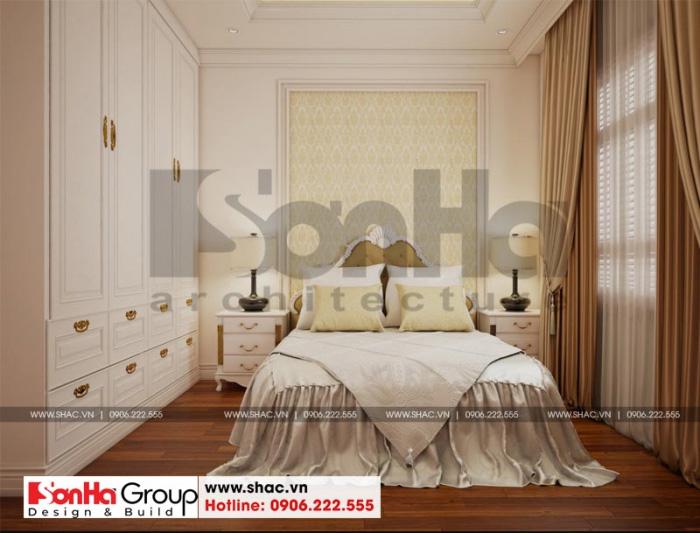 Mẫu phòng ngủ đẹp kiểu tân cổ điển cho biệt thự 3 tầng phong cách tân cổ điển