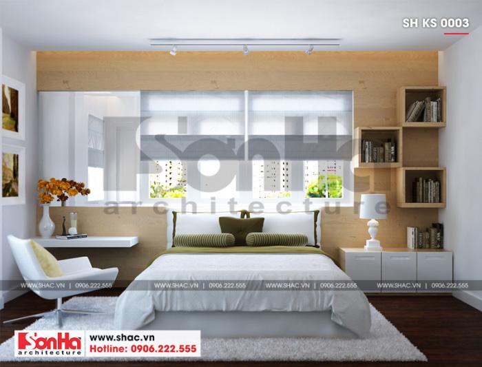 6 Mẫu nội thất phòng ngủ đơn khách sạn 3 sao tại hải phòng sh ks 0003