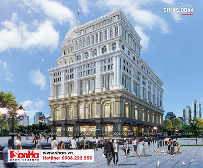 6 Mẫu trung tâm phức hợp thương mại khách sạn 5 sao tại đồng nai sh ks 0064