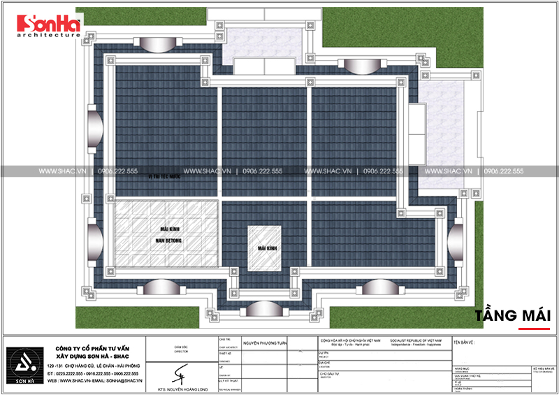 Biệt thự tân cổ điển 3 tầng 2 mặt tiền diện tích 11,9x15,5m tại Sài Gòn - SH BTP 0130 7