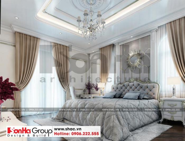 Thiết kế nội thất phòng khách kiểu tân cổ điển với bố trí thoáng đãng đẹp mắt