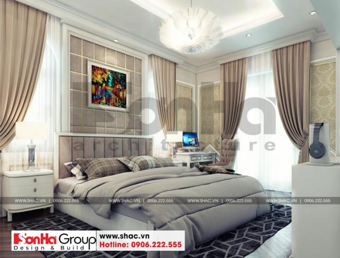 Thêm một ý tưởng thiết kế phòng ngủ đẹp cho biệt thự 3 tầng tiện nghi