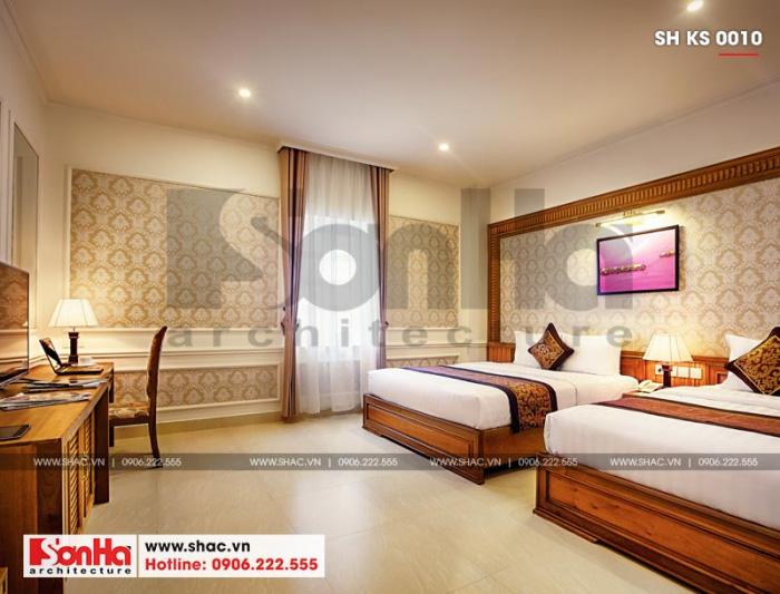 8 Mẫu nội thất phòng ngủ đôi khách sạn 4 sao tại quảng bình sh ks 0010