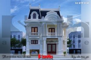 BÌA thiết kế biệt thự tân cổ điển 3 tầng 2 mặt tiền tại sài gòn sh btp 0130